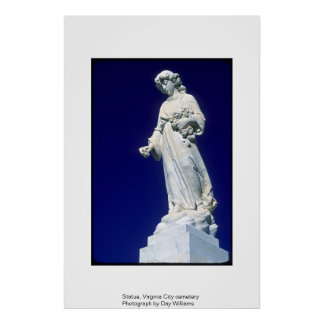Statue, Virginia City Cemetery Poster