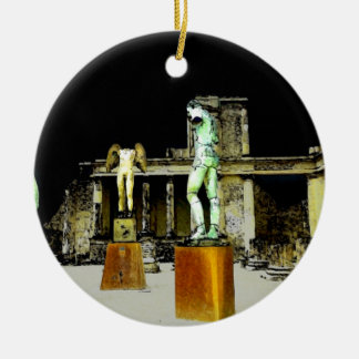 Statues in Pompeii Italy - Beautiful Discovery Ceramic Ornament