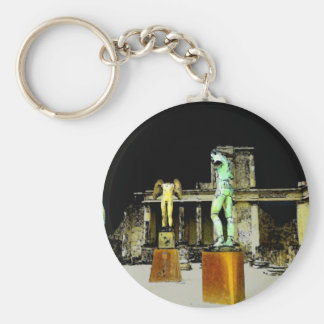 Statues in Pompeii Italy - Beautiful Discovery Keychain