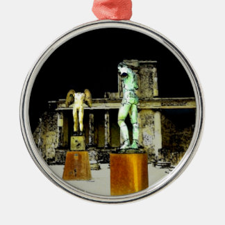 Statues in Pompeii Italy - Beautiful Discovery Metal Ornament