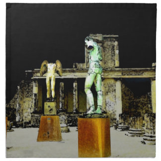 Statues in Pompeii Italy - Beautiful Discovery Napkin