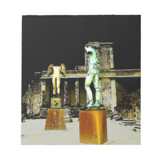 Statues in Pompeii Italy - Beautiful Discovery Notepad