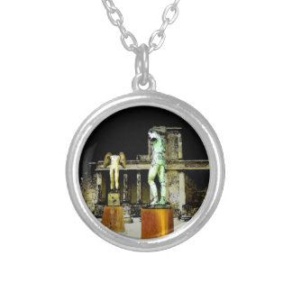 Statues in Pompeii Italy - Beautiful Discovery Silver Plated Necklace