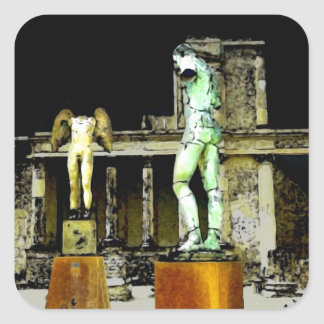 Statues in Pompeii Italy - Beautiful Discovery Square Sticker