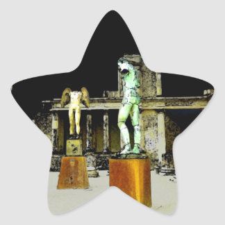 Statues in Pompeii Italy - Beautiful Discovery Star Sticker