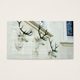 Statues Of Deers In The Castle Hluboka Business Card