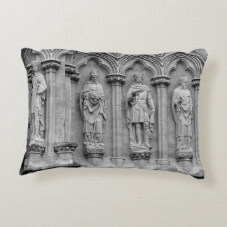 Statues of Saints on Salisbury Cathedral England Accent Pillow