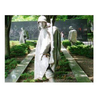 Statues of Soldiers | Korean War Memorial Postcard
