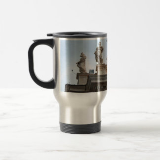 Statues on St Peter's Square in the Vatican City Travel Mug