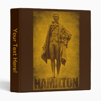 Statuesque Alexander Hamilton Design 3 Ring Binder