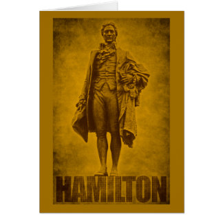 Statuesque Alexander Hamilton Design Card