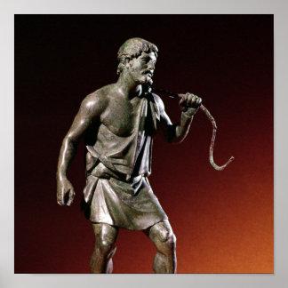 Statuette de Lararium d un transporteur d eau Affiches
