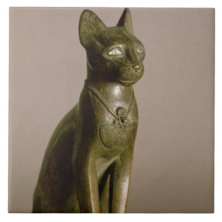 Statuette of a cat representing the goddess Bastet Tile