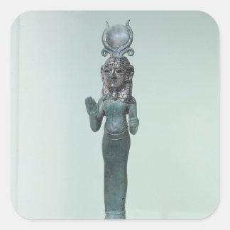 Statuette of a Phoenician goddess Square Sticker
