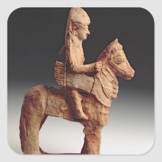 Statuette of an armed horseman, Byblos, 8th-6th ce Square Sticker