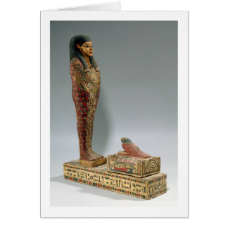Statuette of Osiris of Iahmes (painted wood) Card
