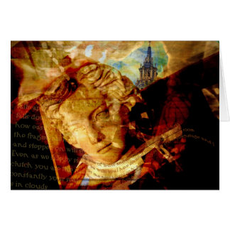 Statute butterfly collage card