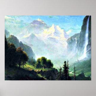 Staubbach Falls near Lauterbrunnen Switzerland Poster