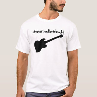 staugustinefloridarocks! black guitar T-Shirt
