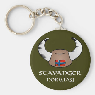 Stavanger Norway Viking Hat Keychain