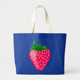 STAWBERRY,STRAWBERRIES LARGE TOTE BAG