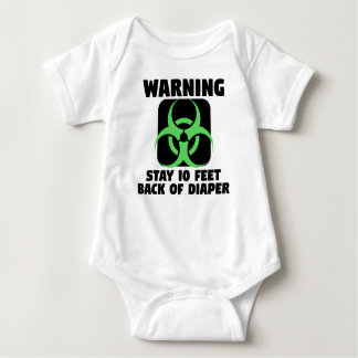 Stay 10 Feet Back Of Diaper Baby Bodysuit