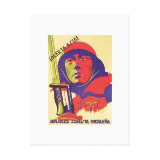 Stay alert! (1937)_Propaganda Poster Canvas Print
