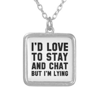 Stay And Chat Silver Plated Necklace