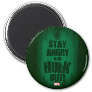 Stay Angry And Hulk Out 2 Inch Round Magnet