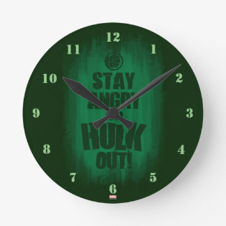 Stay Angry And Hulk Out Clock