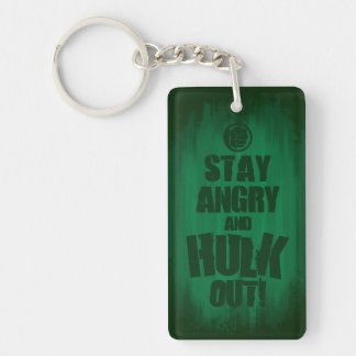 Stay Angry And Hulk Out Double-Sided Rectangular Acrylic Keychain
