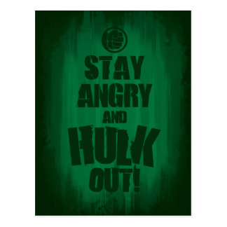 Stay Angry And Hulk Out Postcard