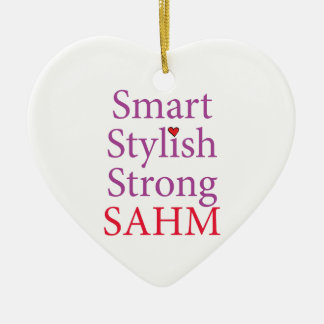 Stay At Home Mom - SAHM Ceramic Heart Ornament