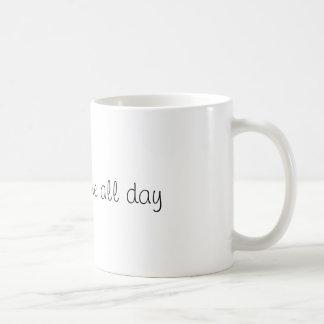 Stay awesome all day mug. coffee mug