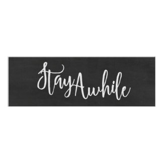 Stay Awhile Home Decor Art Print