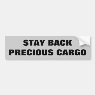 Stay Back Precious Cargo  Horse Trailer Bumper Sticker