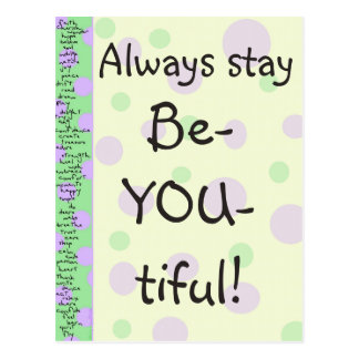 Stay Be-YOU-tiful! Postcard