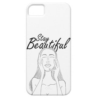 Stay Beautiful: Beautiful Long Hair Woman Line Art Case For The iPhone 5