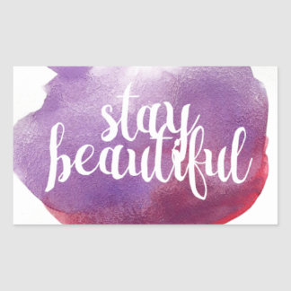 Stay Beautiful watercolor Sticker