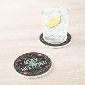 Stay Blessed Hakuna Matata Whirling stars Beverage Coaster