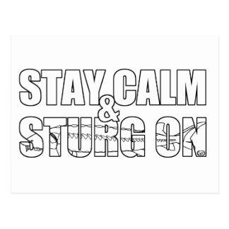 Stay Calm & Sturg On -Lake Sturg - acigifts@yahoo Postcard