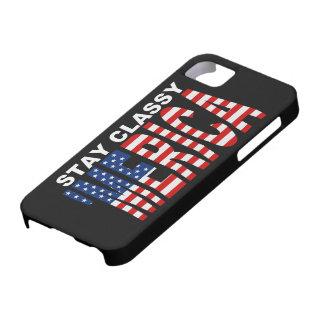 Stay Classy 'MERICA iPhone 5 Case