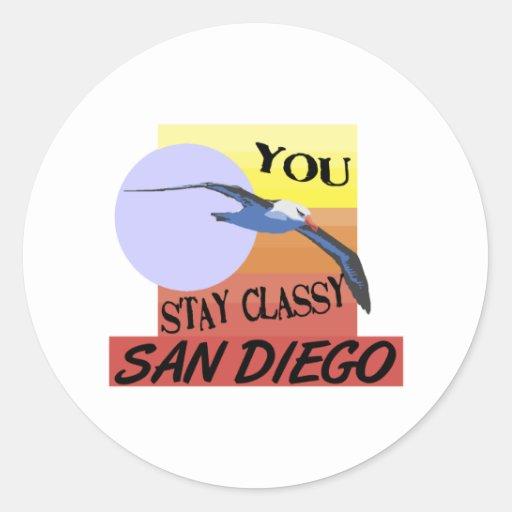Stay Classy San Diego Round Sticker