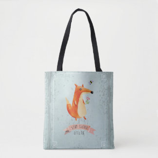 Stay Clever Little Fox Tote Bag