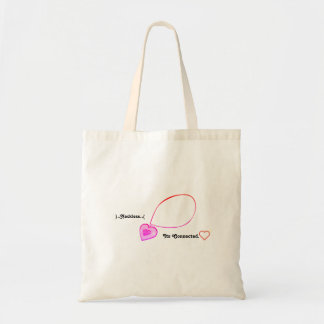 Stay connected design tote bag