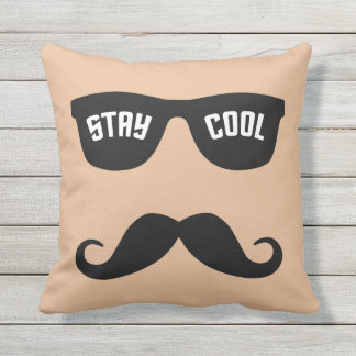 STAY COOL custom color throw pillow