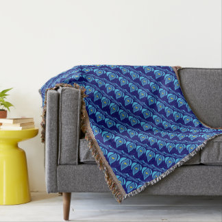 STAY COOL FISH Blue Pattern - Chill Summer Fry Throw