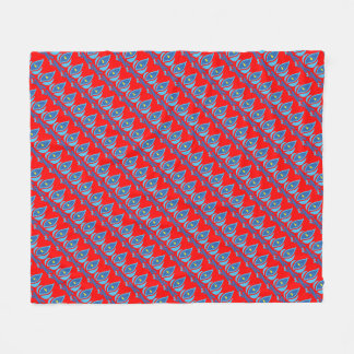 STAY COOL FISH Red Pattern - Chill Summer Fry Fleece Blanket