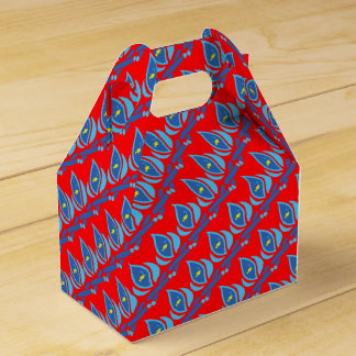 STAY COOL FISH Red Pattern - Chill Summer Fry Party Favor Box