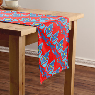 STAY COOL FISH Red Pattern - Chill Summer Fry Short Table Runner